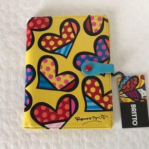 Romero Britto Passport Holder (Yellow Background)